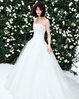 carolina herrera strapless tulle ballgown wedding dress spring 2020