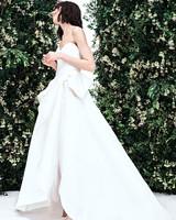 carolina herrera sweetheart high low bow wedding dress spring 2020