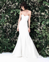 carolina herrera sweetheart trumpet wedding dress spring 2020