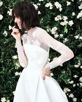 carolina herrera long sleeves a line wedding dress spring 2020