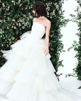 carolina herrera strapless tulle ruffles tiers wedding dress spring 2020