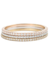 Catbird Fairy Light Demi-Pavé Wedding Bands