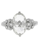 Cathy Waterman Oval Engagement Ring