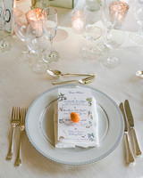 chelsea conor wedding place setting