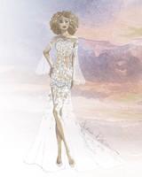 claire pettibone wedding dress sketch