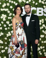 Cobie Smulders and Taran Killam at 2017 Tony Awards