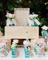 flower vase seating cards