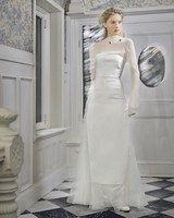 danielle frankel wedding dress spring 2019 high illusion neck long sleeves