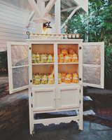 cabinet of popcorn edible favors