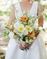 eliza peter wedding bouquet