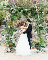 emily adhir wedding couple embrace