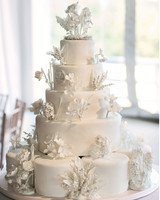 32 amazing wedding cakes you have to see to believe martha stewart white cake with sugar flowers junglespirit Images