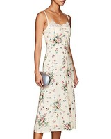 floral and lace engagement party dress