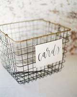 wire basket card holder