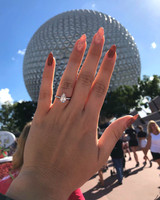 engagement ring selfie epcot at walt disney world