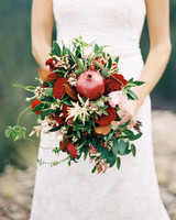 Pomegranate Wedding Bouquet