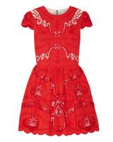red cap sleeve dress