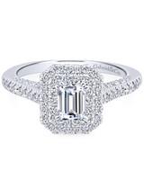 Gabriel & Co. Emerald-Cut Engagement Ring