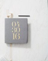 gold wedding guest book