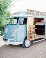 Blue Retro Photo Booth Van