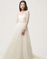 jenny by jenny yoo fall 2018 sweetheart long-sleeve wedding dress