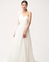jenny by jenny yoo fall 2018 one shoulder bow detail wedding dress