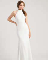 jenny by jenny yoo wedding dress high neck sleeveless trumpet