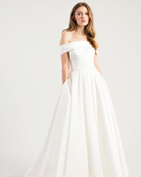 jenny by jenny yoo wedding dress off the shoulder ball gown simple