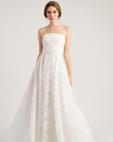 jenny by jenny yoo wedding dress strapless floral applique a-line