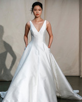 justin alexander v-neck a-line wedding dress spring 2020