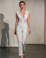 justin alexander embroidered illusion jumpsuit wedding dress spring 2020