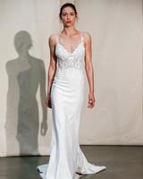 justin alexander spaghetti-strap sheath wedding dress spring 2020