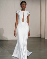 justin alexander cap-sleeved cut-out bodice wedding dress spring 2020