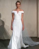justin alexander off-the-shoulder trumpet wedding dress spring 2020