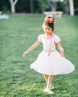 twirling flower girl