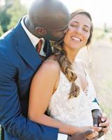 leila joel wedding couple kiss