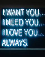 quote neon sign