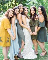 megan scott wedding bride with friends