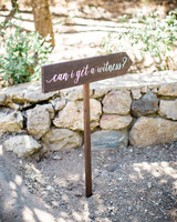 megan scott wedding signage