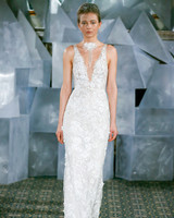 mira zwillinger wedding dress spring 2019 plunging neck applique belt