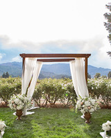 modern wedding natural outdoor setting