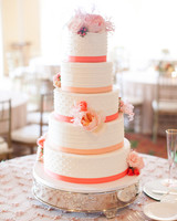 32 amazing wedding cakes you have to see to believe martha stewart orange ribbon wedding cake junglespirit Images