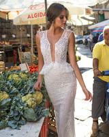 Muse by Berta V-Neck Vest Sheath Wedding Dress Fall 2018