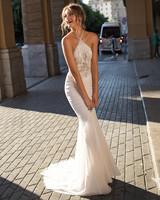 Muse by Berta Off-the-Shoulder Sheath Wedding Dress Fall 2018