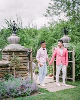 pink suit jacket