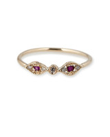 odd wedding band jacquie aiche ruby eye