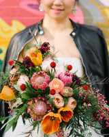 protea wedding bouquets lindsay hackney