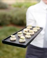 rae rob wedding appetizers