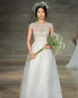 reem acra bridal market wedding dress fall 2018 high neck a-line