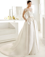 Wedding Dress with Pockets, Lace, and Bow
